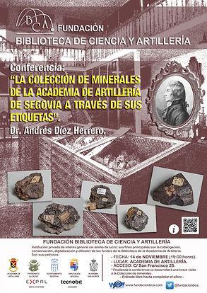 Conferncia Coleción de minerales Academia de Artillería Segovia