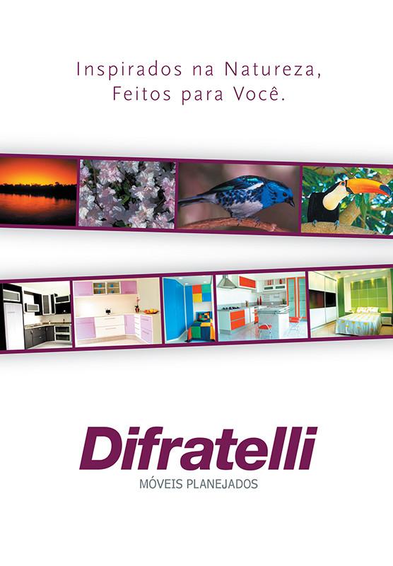 Folder desenvolvido pela Criarama para móveis Difratelli