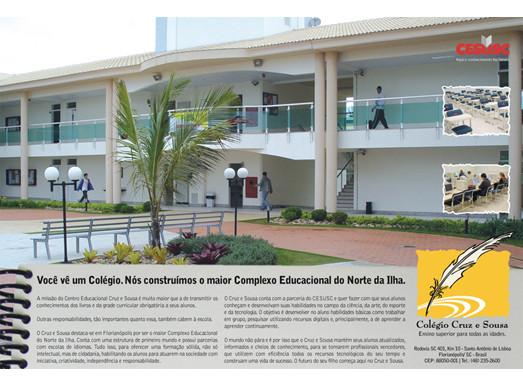 Anúncio da campanha Colégio Cruz e Souza