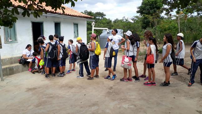 Aula de campo no Sítio Arqueológico Moita dos Porcos.