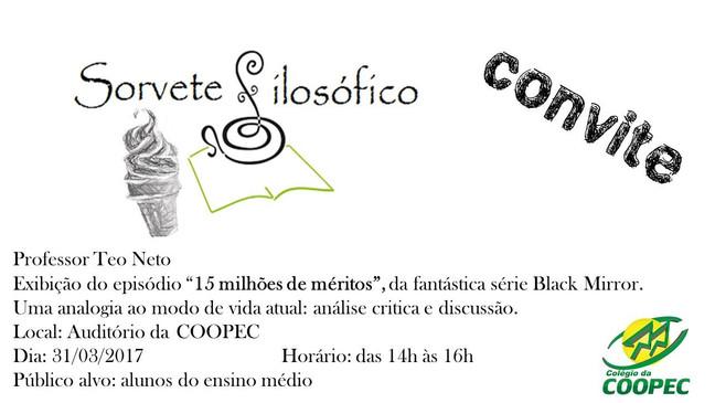 Convite - Sorvete Filosófico da COOPEC