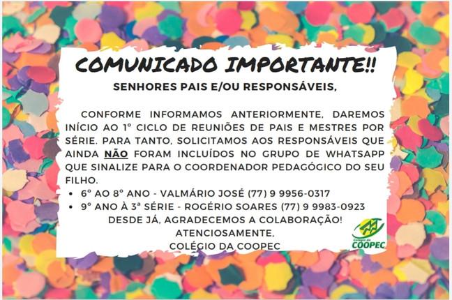 Comunicado Importante!!