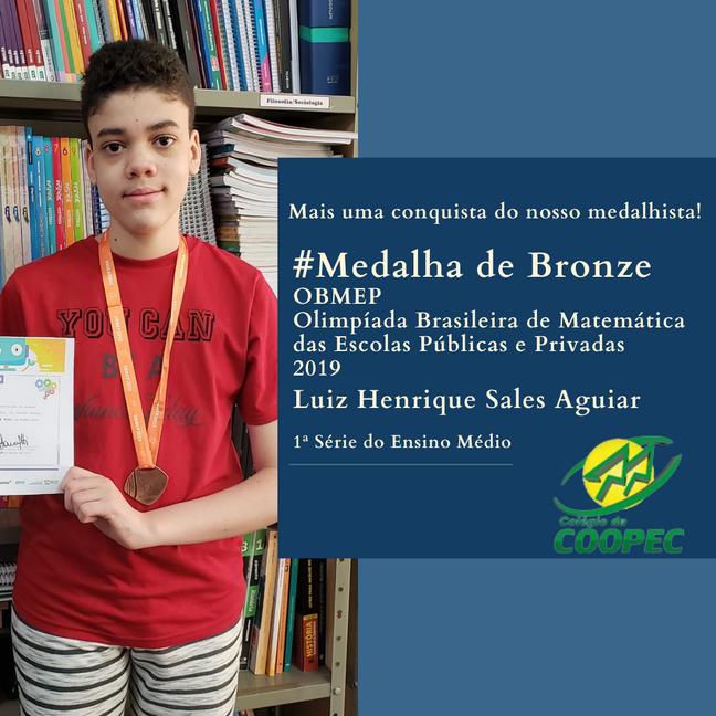 Medalha de Bronze OBMEP