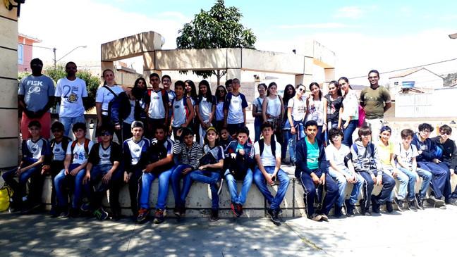 Trilha Verde com os estudantes do 7° ano