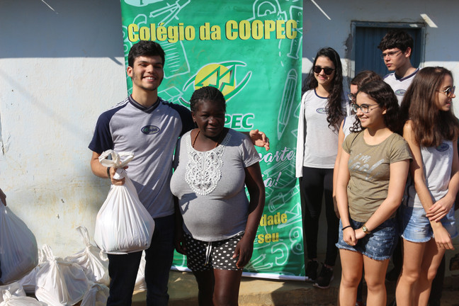 JIC 2019 - Doações de alimentos para as famílias Quilombolas de Caetité