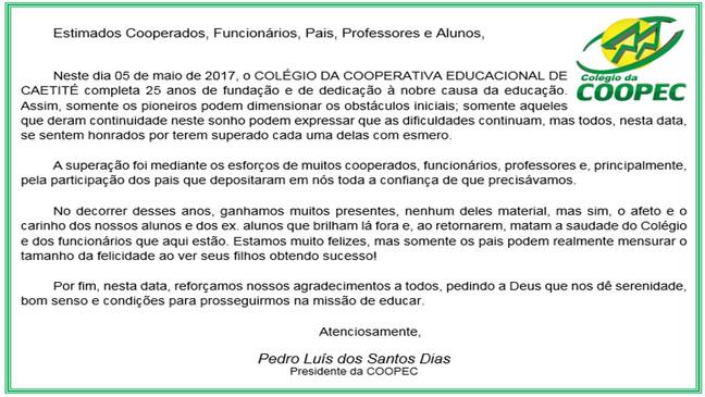 HÁ 25 ANOS ACREDITANDO NA EDUCAÇÃO!