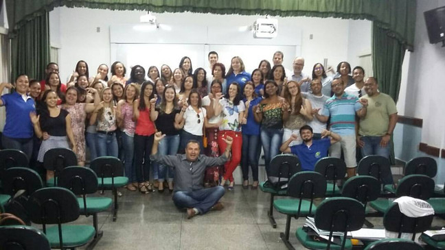 Palestra com o professor Garrido.