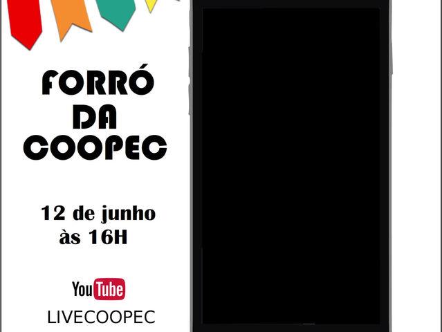 Convite para o Forró da COOPEC 2021