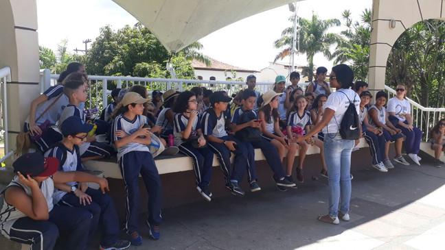 Aula de campo com os alunos do 6º Ano.