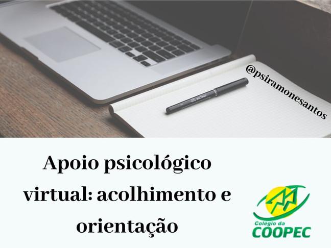 Apoio psicológico virtual.