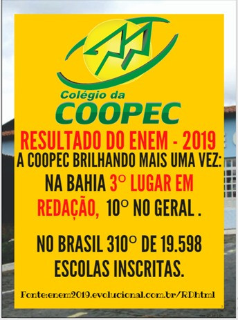 Resultado do ENEM - 2019