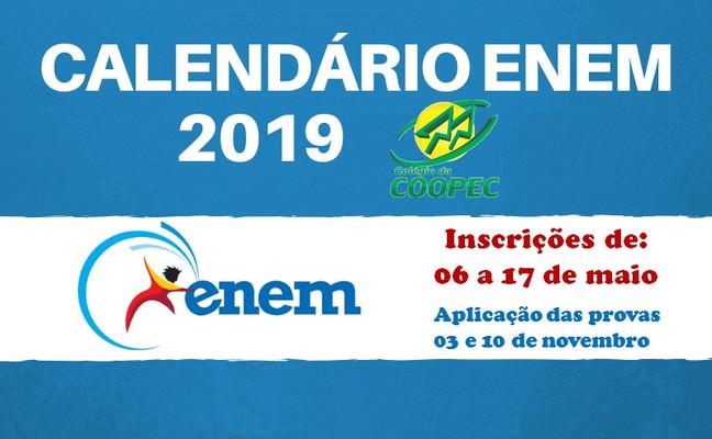 Fique ligado nas datas do ENEM 2019