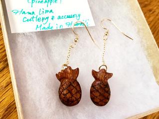 Koa-Hala kahiki(Pineapple) Earrings