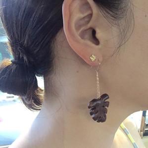 Monstera Earrings-Koa