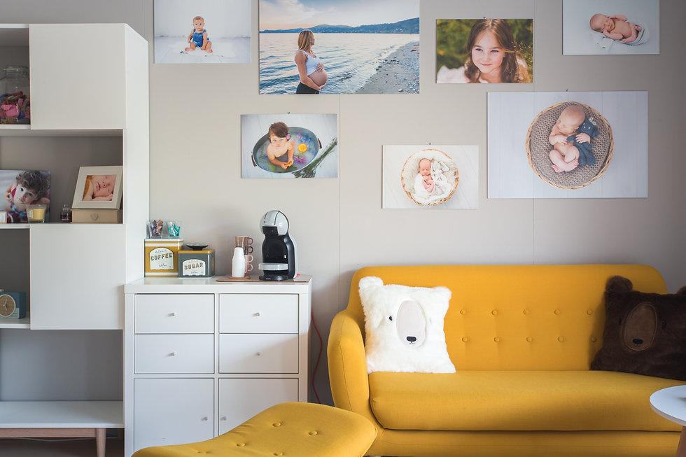 Gli interni dello studio fotografico perego silvia fotografa lesa provincia di novara