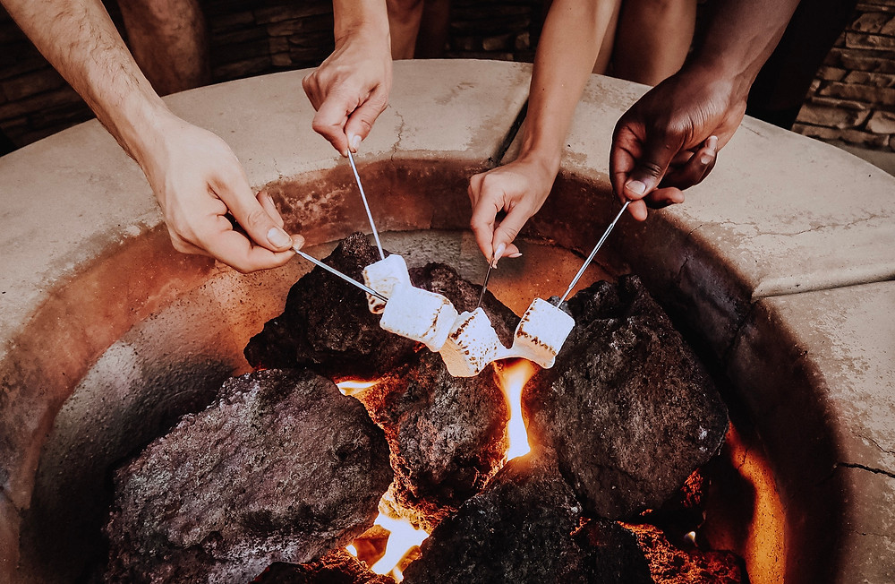 Farm Fresh To You Smores in the Making with the Rustic Puff Gourmet artisan Marshmallows