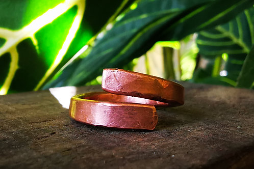 self acceptance || open • copper ring
