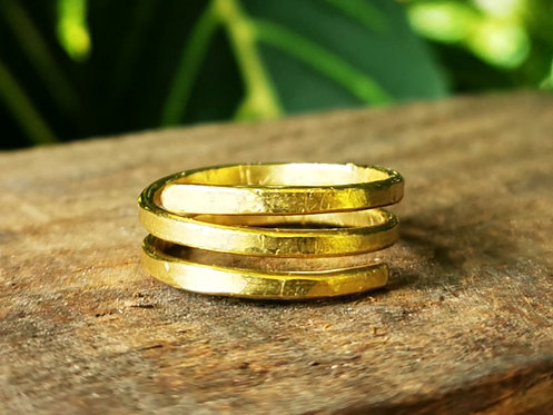 flat band brass rings • sizes 4-13