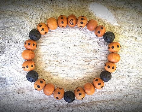 lava・wood-burned bracelet