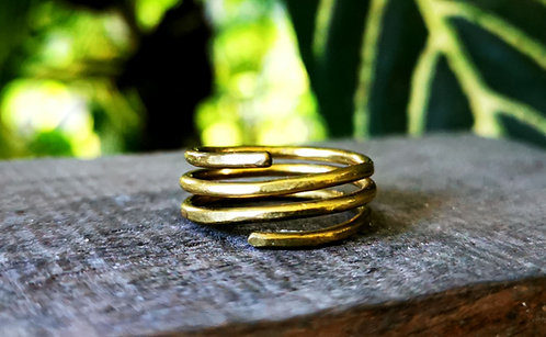 triple band brass rings • sizes 4-13