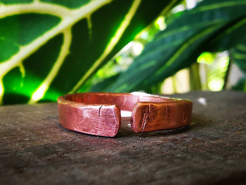 self acceptance || inner peace • copper ring