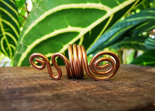 bronze spiral • loc bead