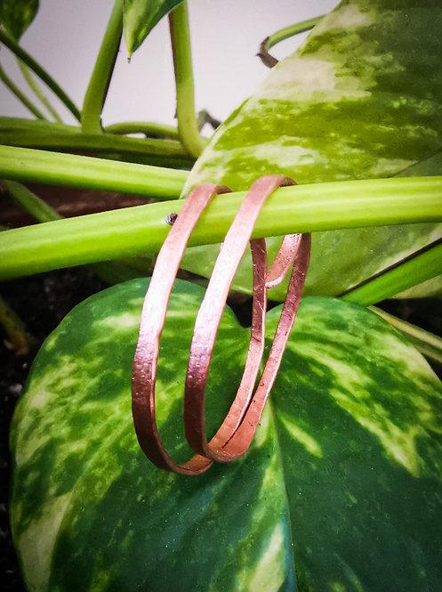 hoops for gauges・hammered earrings
