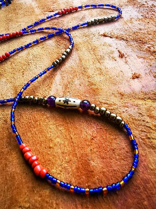 "amethyst + star bead・34"" waistbeads"