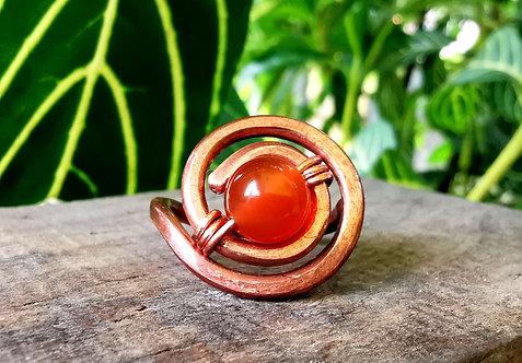 carnelian sundial ring • size 8
