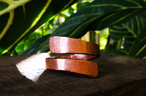 self acceptance || balance • copper ring