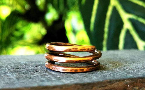 triple band copper rings • sizes 4.5-13
