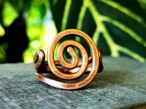 spiral copper ring・size 10.5