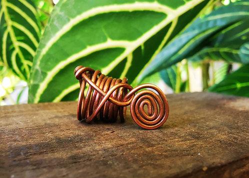 copper spiral • loc bead