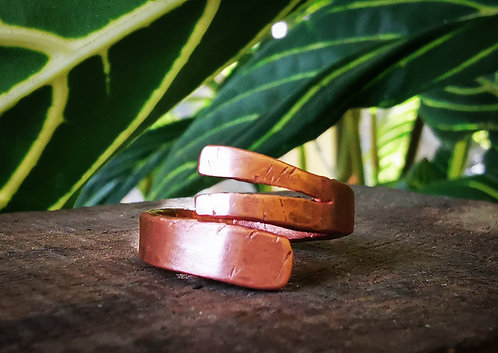 self acceptance || grow where you're planted  • copper ring