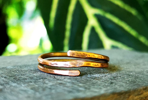 double band copper rings・sizes 4-13