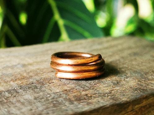 copper toe rings • sizes 3-4