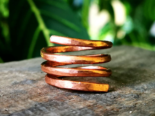 flat band copper rings・sizes 4-13