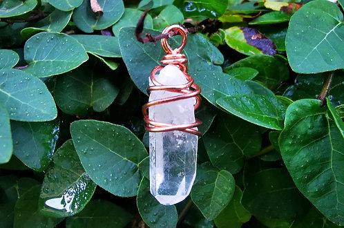 clear quartz point • gauge gems