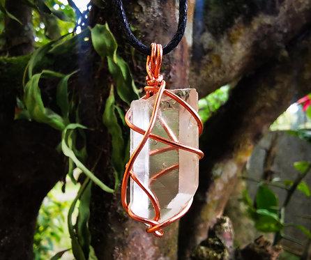 clear quartz x copper • adjustable necklace