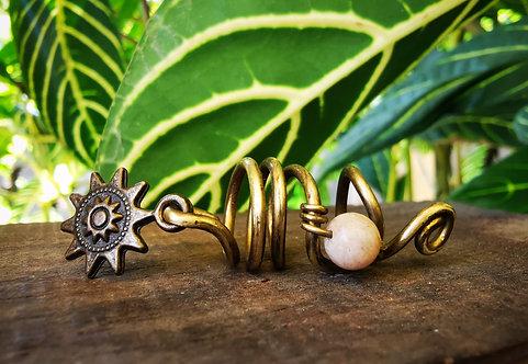 sunstone + sun •loc bead