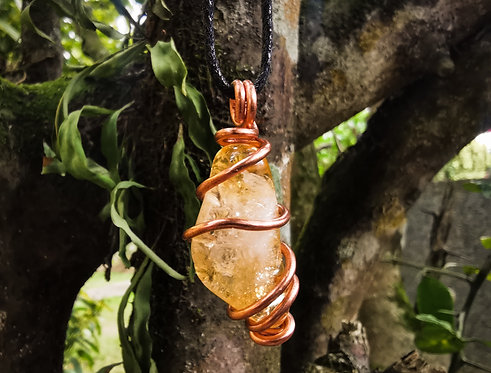 citrine x copper • adjustable necklace