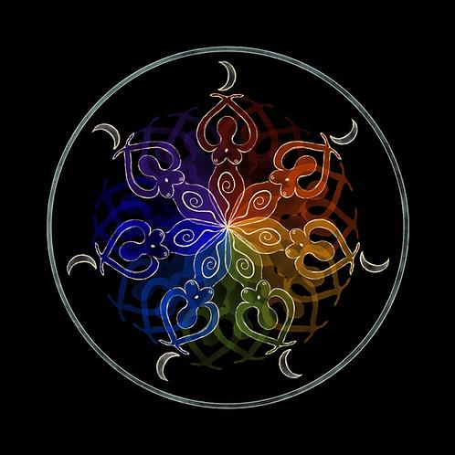 rainbow goddess mandala・prints