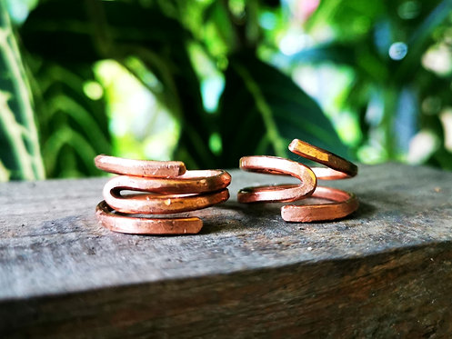reverse band copper rings