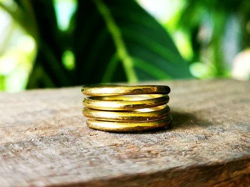 brass toe rings • sizes 3-4