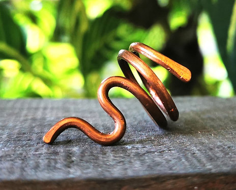 serpent copper ring・size 5.5
