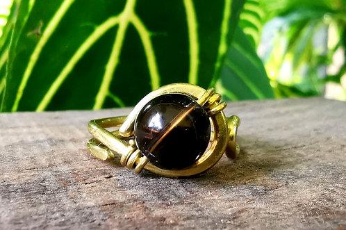 smoky quartz ring・size 8.5