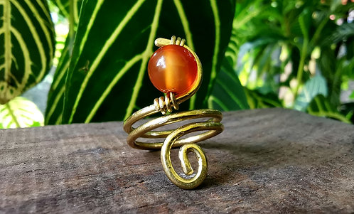 RESERVED for Erika***carnelian ring •size 6.5
