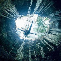 Cenote below