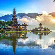 Bali with temple purchased from 123RF.jp