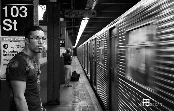 The A train in #newyork #subway #blackan